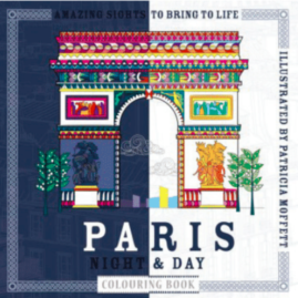 Paris night and day, colouring book